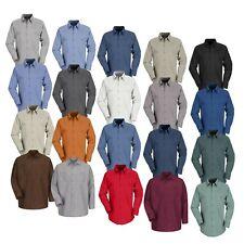 Red Kap Work Shirt Solid Color 2 Pocket Men's Industrial Uniform Long Sleeve
