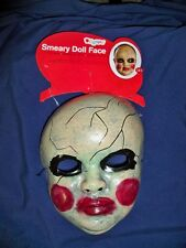OLD SMEARY DOLL CRACKED FACE MAKEUP SCARY MASK DG23930