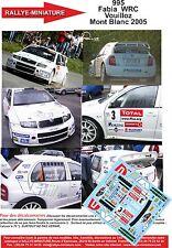 DÉCALS 1/24 réf 995 Skoda  Fabia  WRC Vouilloz Mont Blanc 2005