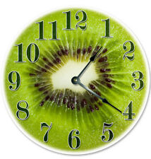 "12"" KIWI FRUIT KITCHEN CLOCK - Large 12 inch Wall Clock - Printed Decal Image"