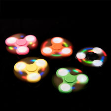 LED Light Fidget Tri-Spinner Focus Toys ABS Finger Ball For Kids/Adult SC