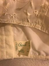 48C 043 White Eyelet Crown-ette CROWNETTE~Bustier/Camisole Bra Longline~NEW~