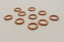 50 Pieces Jump Rings Closed Twisted Copper Wire Rose Gold Plated Round 6mm
