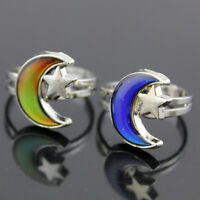 Kids Adult Magic Temperature Emotion Feeling Mood Ring Band+Color Changing Chart
