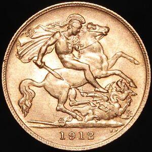 1912   George V Half-Sovereign   Gold   Coins   KM Coins