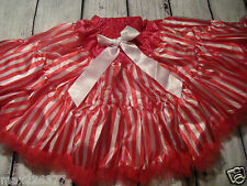 New Christmas tutu pettiskirt candy cane hot pink GIRL skirt  6 - 9 years