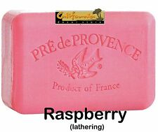 Pre de Provence RASPBERRY 150 Gram French Soap Bath Shower Bar Shea Butter