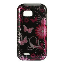 For T-Mobile LG myTouch Q C800 HARD Case Snap on Phone Cover Black Butterfly