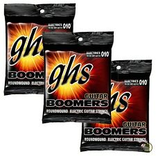 3-Pack GHS Electric Boomers GBTNT Thin/Thick Nickel Steel Guitar Strings 10-52