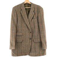 Harris Tweed 100% Laine Marron Veste Blazer Taille US/GB 42 Eur