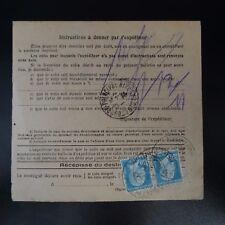 COLIS (PACCHI) POSTALI NEWSLETTER D'SPEDIZIONE ALSACE LORRAINE CAD SENTHEIM 1932