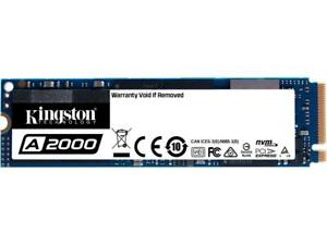Kingston A2000 M.2 2280 500GB NVMe PCIe Gen 3.0 x4 3D NAND Internal Solid State