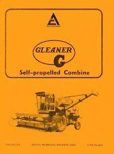 Allis Chalmers G Self Propelled Gleaner Combine Operators Manual before Se 17001