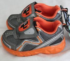 "Starter Toddler/Boys Sz 7 ""Lights Up Construction"" Tennis Shoes  Grey/Orange"