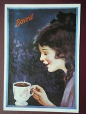 POSTCARD  BOVRIL - YOUNG LADY DRINKING BOVRIL