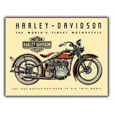 HARLEY Davidson 1933 Big Twin Retrò Vintage Pubblicità Metallo Segno Piastra a parete a5