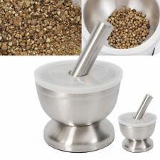 Edelstahl Mörser /& Pistill Handbrecher Knoblauch Gewürz Herb Grinder Bowl