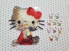 Sanrio Kawaii Hello Kitty Sequin Patch Applique & Wooden Buttons