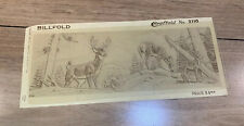 Vtg Craftaid Craftool Billfold Wallet Leather Craft Template 2110 Deer, Woods