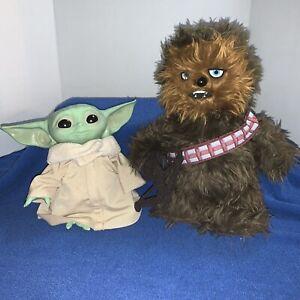 "8"" Baby Yoda And Walking Talking Chewbacca"