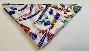 Vintage Avon Italy Scarf Primary Colors 35x35 All Over Print Nail Polish Makeup