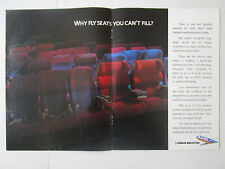 11/1989 PUB AIRBUS A340 AIRLINER SEAT SIEGE AVIATION AVION ORIGINAL AD