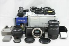 Olympus Pen Lite E-pl3 12.3MP Kamera Schwarz Körper W/14-42mm & 40-150mm #