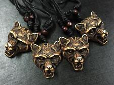 12Pcs vintage punk tibet carving totem head talismans necklace Ng