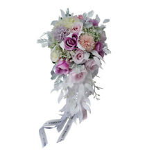 Wedding Bridal Bridesmaid Artificial Silk Hand Tied Flower Wedding Decor