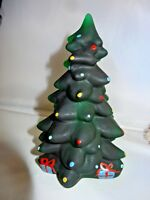 Mosser Glass Christmas Tree Hand Painted Hunter Green Satin New Made USA