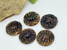 Vintage German Moonglow Tortoise Glass Cabs Cabochons DIY Jewelry Making Crafts