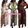 Women Floral Jumpsuit&Romper Party Evening Clubwear Split Cocktail Tunic Dress