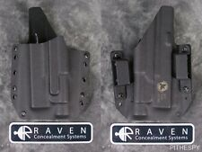 Left Hand Raven Concealment Holster for Glock 17 19 22 23 31 32 TLR-1 Light