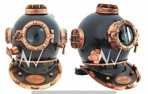 "18"" Brass Boston Diving Helmet SCA Marine Diving Divers Helmet US NAVY MARK V"