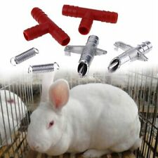 Automatic Nipple Water Feeder T Tubing Spring Drinker Poultry Rabbit Farm Animal