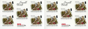 Falkland Islands Small Birds on Stamps 2017 MNH Local Rate Pipit 10v S/A Booklet