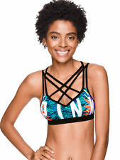 Victoria's Secret Pink Ultimate Cage Front Push-UP Sports Bra Tropical Small NWT