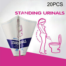 20x Disposable Female Urine Funnel Urination Device Paper Urinal Camping Outdoor