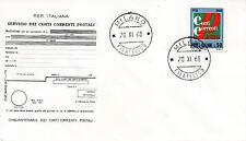 Repubblica Italiana 1968 FDC Filagrano Conti Correnti Postali