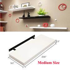 Modern MDF Floating Wall Shelves White 60cm Bookcase Display Storage Unit Shelf