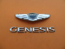 09 10 11 12 13 14 HYUNDAI GENESIS SEDAN REAR LID EMBLEM LOGO BADGE SIGN SET 9582