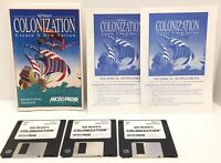 "Sid Meier's COLONIZATION Create A New Nation Micro Prose 1994 IBM 3.5"" HD"