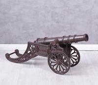 Gartenkanone XXL Gusseisen Kanone Haubitze Metallkanone Dekokanone Antik 80cm