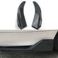 1Pairs Carbon Fiber Winglet Diffuser Spoiler Lip Angle Fit For Car Rear Bumper