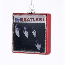 "BE4144 Kurt Adler 3.25"" Meet The Beatles Album Cover Christmas Ornament Fab 4"