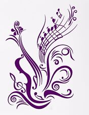 Vinyl Decal Wall Sticker Violin Notes Paper Music Record Studio Decor (ig965)