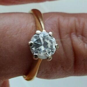 18ct Yellow Gold 0.65 Diamond Solitaire Engagement Ring Size J