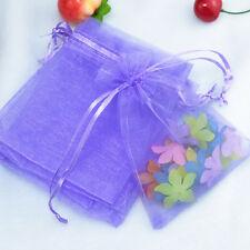12/ 25/ 50/100pcs Organza Bags Jewllery Gift Pouch Wedding Favor 10x12cm Colour