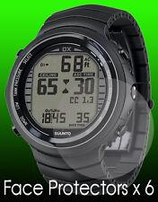 Suunto DX series watch face protectors x 6 face protection titanium silver black
