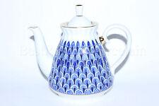 Russian Imperial Lomonosov Porcelain Teapot Forget me not Russia Rare